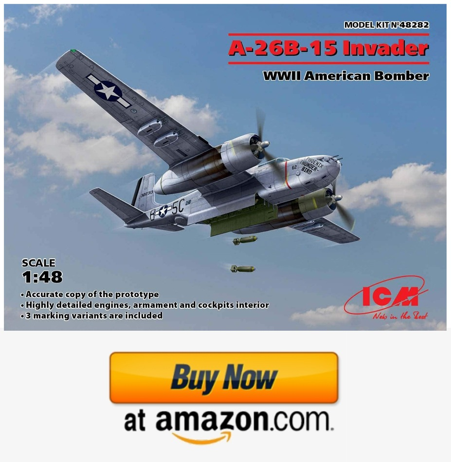 ICM 48282 - A-26B-15 Invader, WWII American Bomber 1/48 Scale Model kit