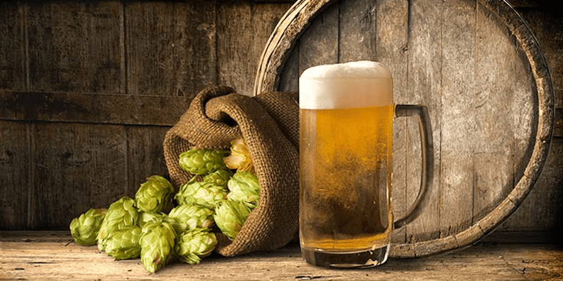 picture of beer and barley